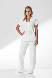 White Elastic Waist Scrub Pant graduation, nurse uniform, pant, pants, white pant, medical pant,