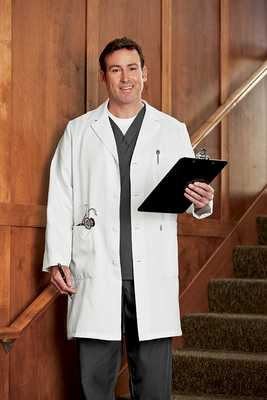 Unisex Silver Safe Care Labcoat Antimicrobial unisex labcoat, unisex lab coat,
