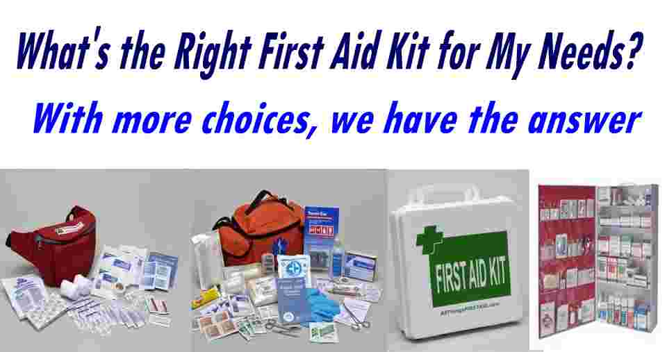 First Aid Kits from Basic through Advanced Medical Care
