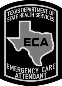 Texas Emergency Care Attendant Patch - Black on Grey