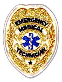 Emergency Medical Technician Badge,-Gold