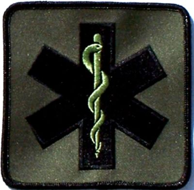 "4"" Star of Life, Olive-Green"