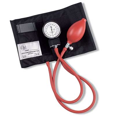 Latex Free  Large Adult Cuff Aneroid Unit.  Nylon cuff  latex-free bulb  gauge.