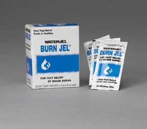Burn relief gel 35 gm pack - 25 packs per dispenser box