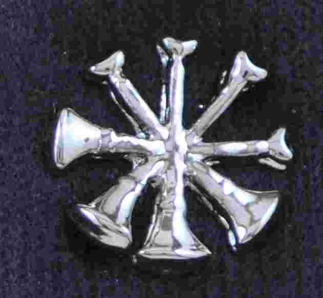 Assist Chief Bugle Pin Sold in pairs