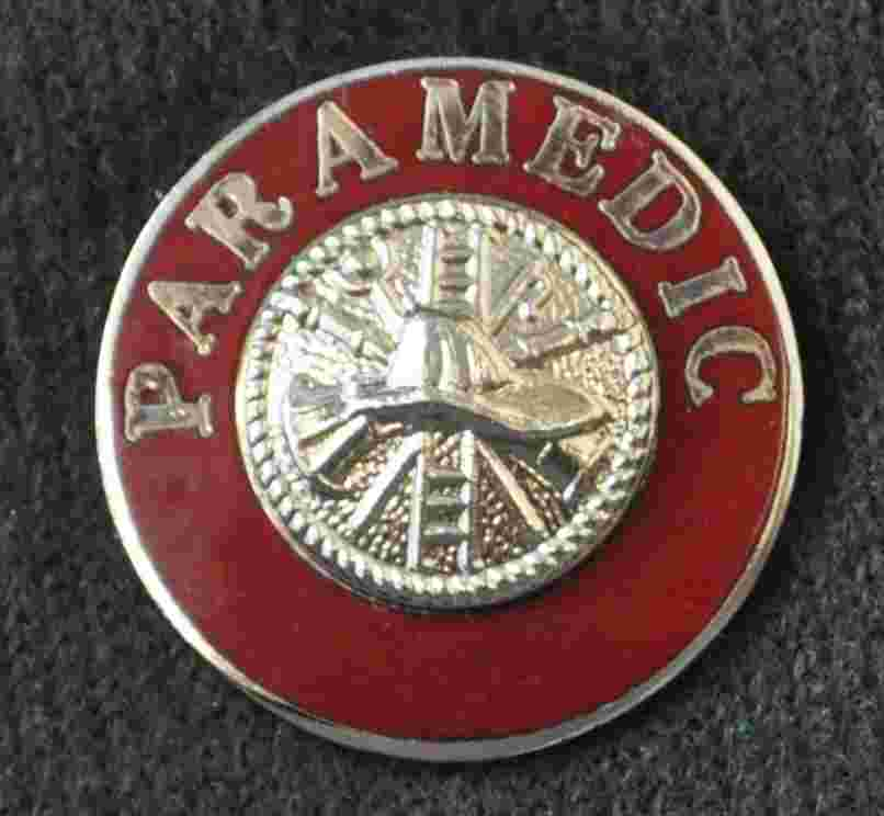 Fire Paramedic Uniform Pins