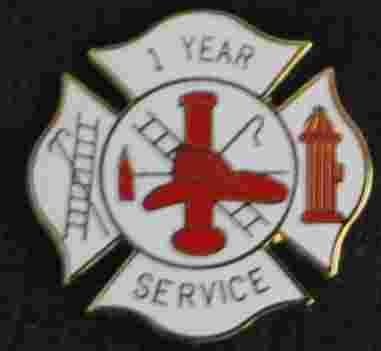 1 year Fire Service pin