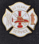 20 years Fire Service pin