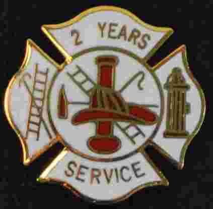 2 years Fire Service pin