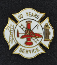 50 years Fire Service Pin