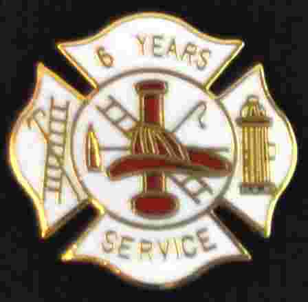 6 years Fire Service pin