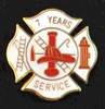 7 years Fire Service pin