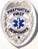 Firefighter First Responder Badge, Silver