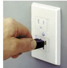 Safe Plate Standard Outlet Cover - WHITE