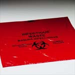Biohazard Infectious Waste Bags - roll of 100