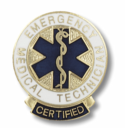 Emerg. Med. Tech.   Cert. Pin