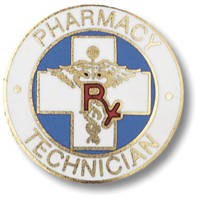 Pharmacy Technician Emblem Pin