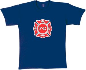 Navy Blue Fire Department T-Shirt