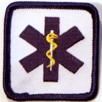 Embroidered Patch - Mini Star of Life 2 x 2 Square