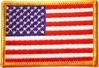 Embroidered Patch - American Flag - Rectangle