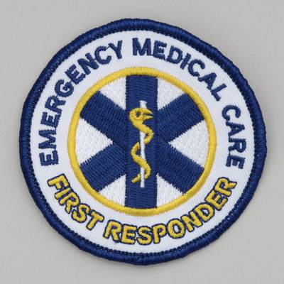 4 inch diameter first responder patch Embroidered Patch - Emergency Medical Care