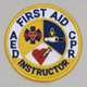 Embroidered Patch - First Aid CPR AED Instructor Patch