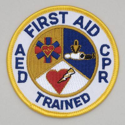Embroidered Patch - First Aid AED CPR Trained