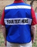 Back view of  CMS911 vest