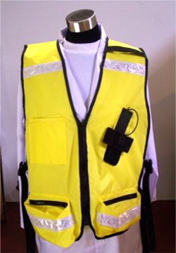 Picture on the front of the CMS911 Radio vest