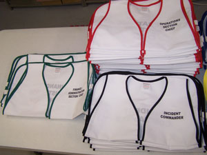 HICS Set - Cloth 89 Vests for Hospital Incident Command System