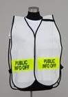 Split Front Vest with front and back titles