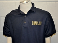 Classic Chaplain Polo Shirt in Navy Blue