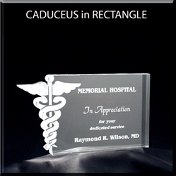 Medical Caduceus in Rectangle Award