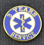 3 Year EMS Service Pin