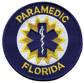Florida Paramedic Patch Blue Edge