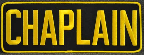 Embroidered Chaplain Patch for jacket backs