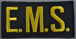 EMS Chest Emblem Gold/Black