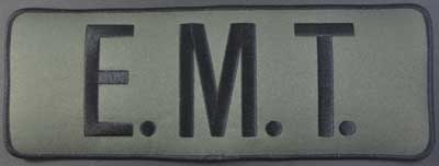 E.M.T. Back Patch Black/Olive Drab
