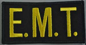 EMT Chest Emblem Gold/Black