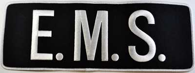 E.M.S. Back Patch White/Navy Blue