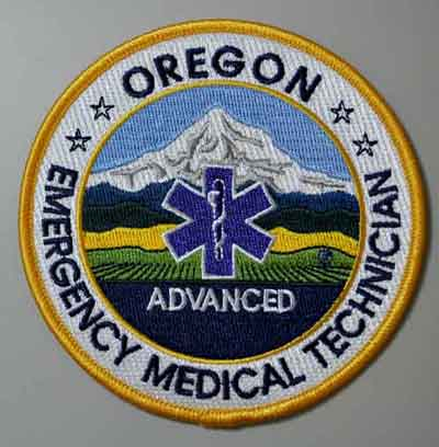 Oregon EMT Advanced Patch OR emt A patch, Oregon patch, emergency medical tech advanced, uniform patch
