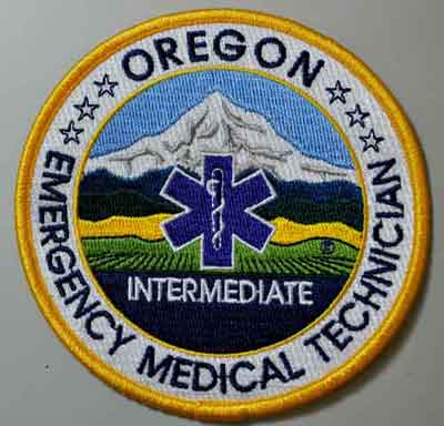 Oregon EMT Intermediate Patch OR EMT I patch, Oregon patch, emergency medical tech intermediate, uniform patch