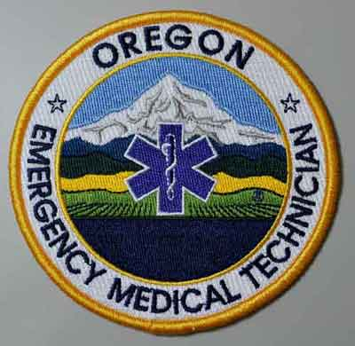Oregon EMT Patch OR emt patch, Oregon patch, emergency medical tech, uniform patch