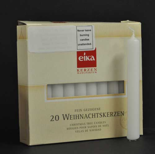Box of 20 replacement wax candles for nursing lamps