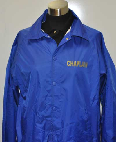Chaplain Coach Windbreaker Jacket chaplain Jacket, chaplain apparel, chaplain supplies, fire chaplain, police chaplain, ems chaplain,Jacket, Windbreaker