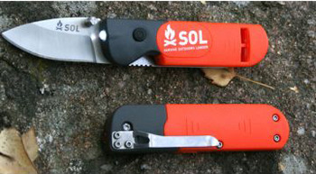 Core Lite Rescue Knife-Light-Whistle Knife, rescue, extreme, wilderness, whistle