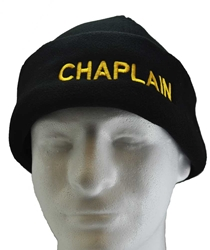 Black Chaplain Cap Fleece