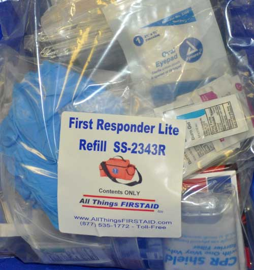 First Responder Lite Medical Kit Refill (no bag) Kit refill, First Responder, EMT, EMS, bulk refill, Paramedic kit, first aid supplies