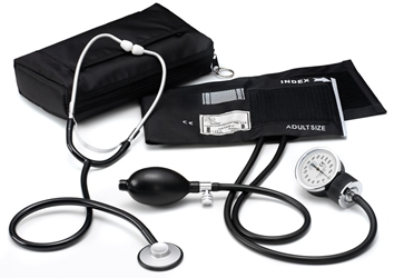 Single Head Stethoscope / Aneroid Sphygmomanometer Blood Pressure Kit