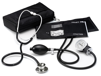 Dual Head Stethoscope / Aneroid Sphygmomanometer Kit